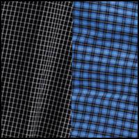 Black Check/Blue Plaid