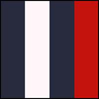 Red, Navy, White, Navy